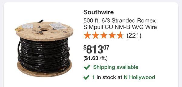 6/3 romex wire