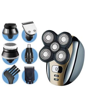 Electric Shaver for Men 5-in-1 Grooming Kit for Men: Five-Headed Beard Electric Razors,Nose Hair Trimmer,Head Shavers for Bald Men, Cordless and Rech for Sale in Corona, CA