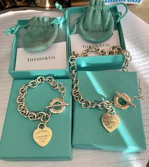 """""""Please Return to Tiffany & Co"""" Heart Toggle Bracelet & Necklace Set for Sale in Simi Valley, CA"""