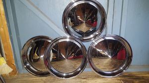 15 inch Baby Moon chrome hubcaps for Sale in Torrington, CT