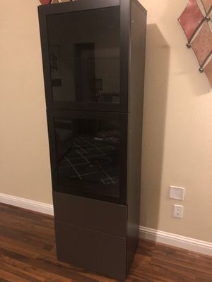 IKEA Besta Display Cabinet with Glass Shelves for Sale in Katy, TX