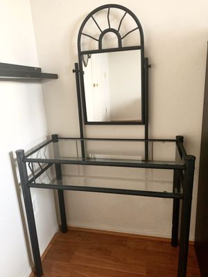 Vanity with glass shelves for Sale in West McLean, VA