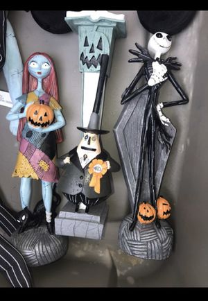 Halloween Figurines set of 3 nightmare before Christmas for Sale in Menlo Park, CA