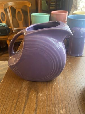 Large lilac fiesta pitcher VeryRare for Sale in Creal Springs, IL