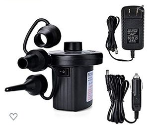 Electric Air Pump, Portable Quick-Fill Air Pump with 3 Nozzles, 110V AC/12V DC, Perfect Inflator/Deflate for Sale in Ontario, CA