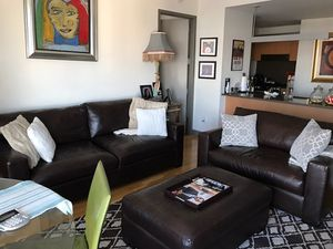 Crate and Barrel Couches w/ Ottoman for Sale in NJ, US