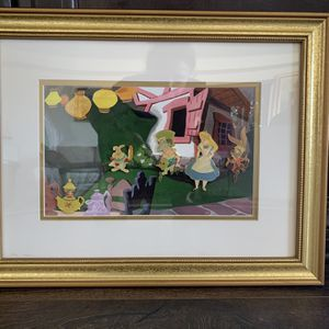 Framed Disney Alice In Wonderland Pin Set for Sale in Los Angeles, CA