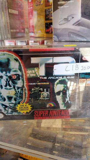 T2 the arcade game SNES boxed for Sale in Simpsonville, SC