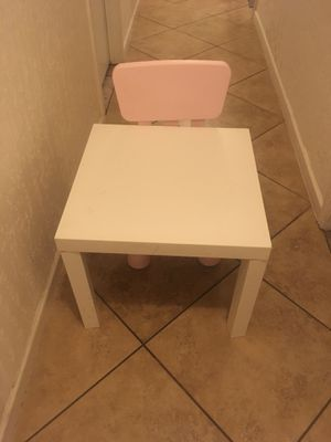 Chair and table for toddlers for Sale in Tempe, AZ