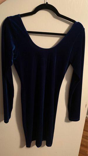 Navy Blue Velvet Dress Size L for Sale in Montebello, CA
