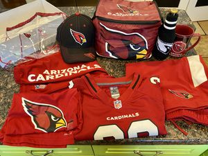 Cardinals Gear - Nike Athletic Pants (XL), Nike Dri-Fit Shirt (WS), Mathieu Jersey (YXL), Hat, 12-Can Cooler Bag, Coffee Mug, Bottl for Sale in Phoenix, AZ