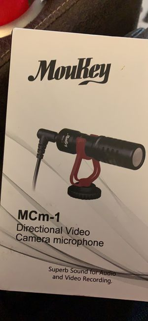 Moukey Microphones MCM-1 DSLR Camera Microphone, External Video Shotgun for Sale in Greenville, SC