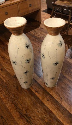 Tall Pier 1 decorative vases for Sale in Dallas, TX