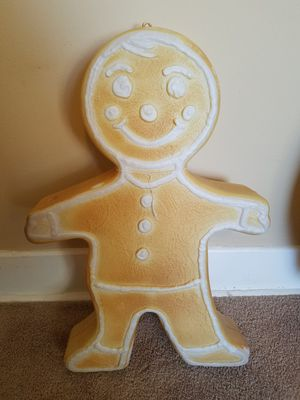 Vintage blow mold christmas ginger bread man for Sale in Lemont, IL