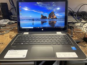 Hp pavilion i3 laptop touchscreen 4gb ram 500gb hdd windows 10 office 07 storefront seller 90 days warranty for Sale in Lawndale, CA