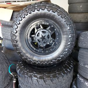 5 Jeep Tires And Wheels for Sale in Oakland, CA
