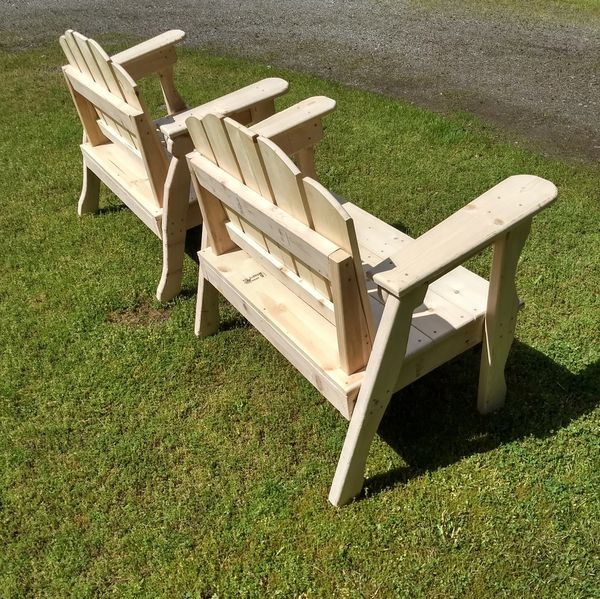 Pine Chairs - Wooden chairs - Outdoor Furniture - Unfinished - Set of Two - Made To Order