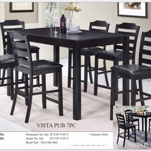 Special Brand New Pub Dining Set ( Table and 6 Chairs Wood ) ☀️😊⭐️ for Sale in Chula Vista, CA