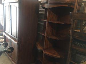 Medium wood entertainment center 4 pieces for Sale in Nashville, TN