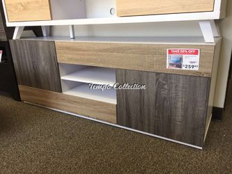 TV Stand for TVs up to 70 Inch, White & Dark Taupe & Distressed Gray, SKU# ID171984TC for Sale in Norwalk,  CA