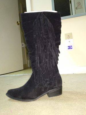 Fringe Cherokee black boots size 6 (BRAND NEW) for Sale in Valdosta, GA