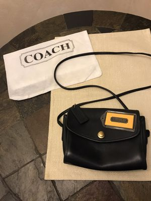 Coach - Small Navy Blue Leather Purse for Sale in San Antonio, TX