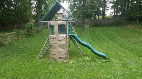 Lightly used Lifetime playground set