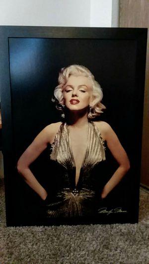 Marilyn Monroe (Gold) Black Framed Canvas Vintage for Sale in Kent, WA