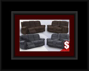 Grey or chocolate recliner set for Sale in Washington, DC