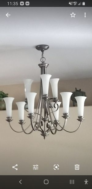 Large chandelier light 34 ×97 excellent condition for Sale in Ruskin, FL