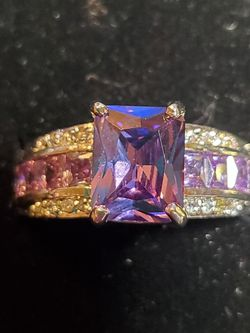 Stunning Amethyst Size 10 Silver Filled Ring Rhodium Finish for Sale in Wenatchee,  WA