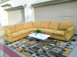 Nice Tan 4 pcs Sectional sofa • Good condition • Free delivery near me 🚚 for Sale in Las Vegas, NV