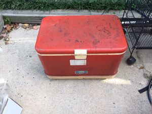 Old metal thermos cooler for Sale in Greensboro, NC