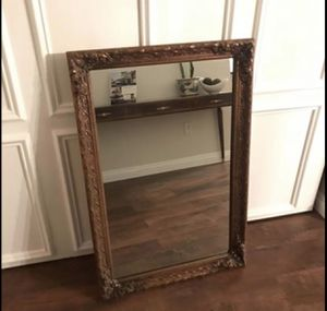 "Antique original Bassett Furniture 1950s mid Century Gold Mirror 45"" for Sale in San Diego, CA"