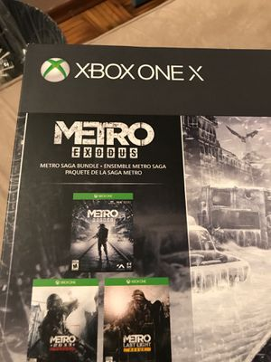 XBOX ONE X 1TB METRO EXODUS BUNDLE NEW AND SEALED! for Sale in Portland, OR