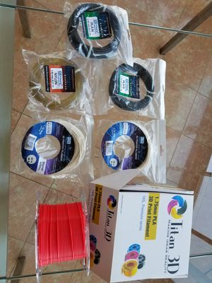 6 rolls of 3D PRINTER Filament in 1.75mm & 2.85mm PLA, Nylon & PLA-N Blend for Sale in Brooklyn, NY