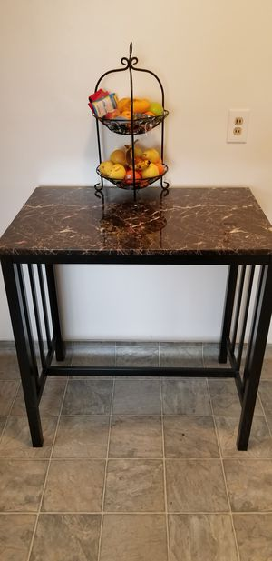 Steal Frame, wooden countertop with Granite overlay table for Sale in Bellflower, CA