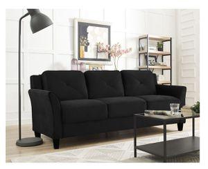 Contemporary style beautiful black velvet micro fibre sofa for Sale in Livermore, CA