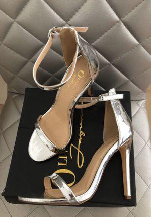 Fashion nova silver heels for Sale in Huntington Park, CA