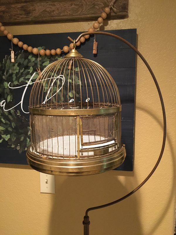 Bird Cage/Decorative Collectible/Brass/Antique/Hendryx