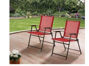 Set of 2 only outdoor foldable chairs for Sale in Fort Worth, TX