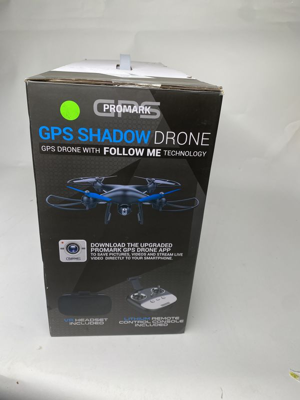 Promark: GPS Shadow Drone - Premier GPS-Enabled Drone with Follow Me Technology - 6-Axis Gyroscope for Panoramic Shots - Lithium Batteries Included -