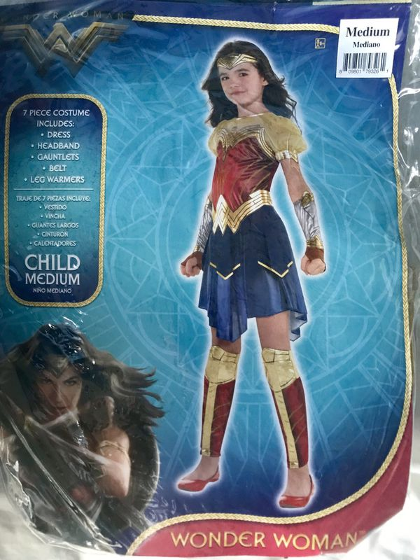 Girls Wonder Woman Costume Size: Medium (child)