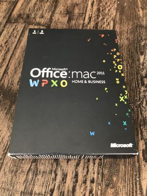 Microsoft Office Mac 2011 w Outlook for Sale in Leander, TX