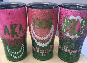 20 oz. Glittered tumblers for Sale in Port Acres, TX