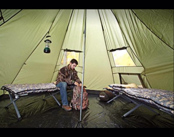 6 Person Deluxe Teepee Tent 14' x 14' Outdoor Weather Proof Camping Hiking Waterproof Shelter New
