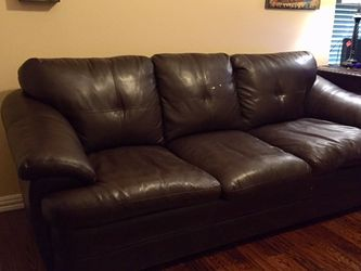 Sofa Sleeper Brown Leather Queen Size for Sale in McKinney,  TX