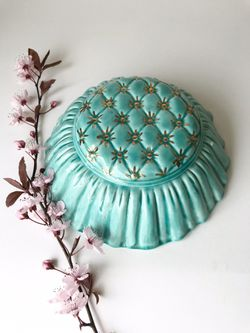Vintage Mid-Century / Fancy Boho Chic Handmade Studio Pottery Lidded Ceramic Trinket Box for Sale in Maple Valley,  WA