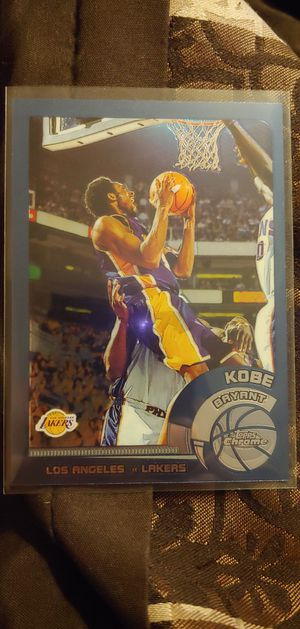 Los Angeles Lakers Kobe Bryant MVP black holographic reflector insert for Sale in Perris, CA