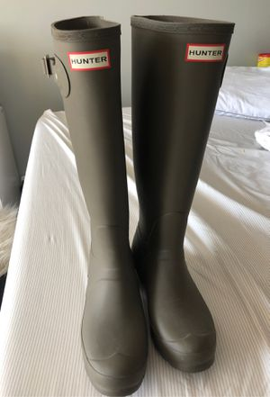 Hunter forest green rain boots for Sale in Hollywood, FL
